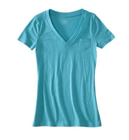 Blue Mossimo Short Sleeve Pocket Vee-Tee