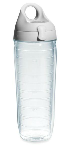 Tervis clear grey water bottle