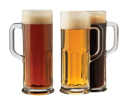 Three mugs of beer