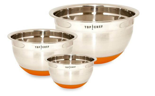 Top Chef three different sized bowls with silicone bottoms