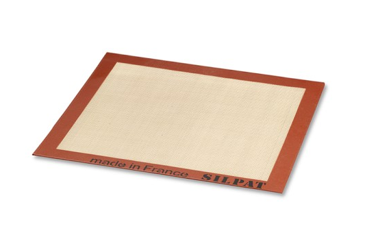 Silpat baking mat with red rim