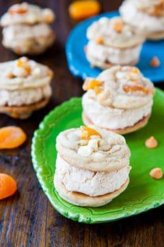 Apricot Butterscotch Peanut Butter-Filled Sandwich Cookies
