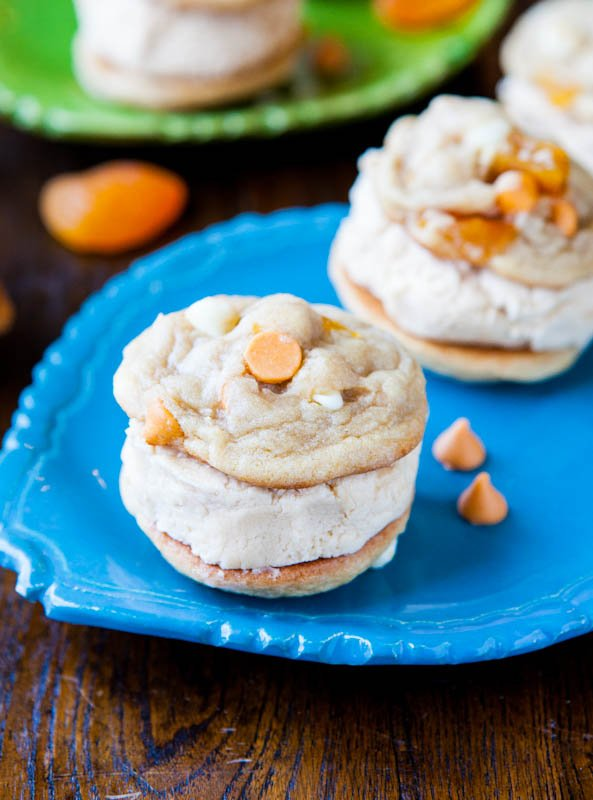 Apricot Butterscotch Peanut Butter-Filled Sandwich Cookies