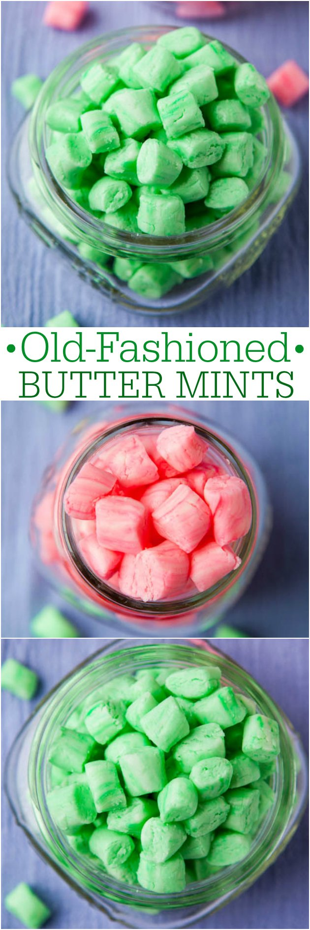 Old-Fashioned Butter Mints in jars