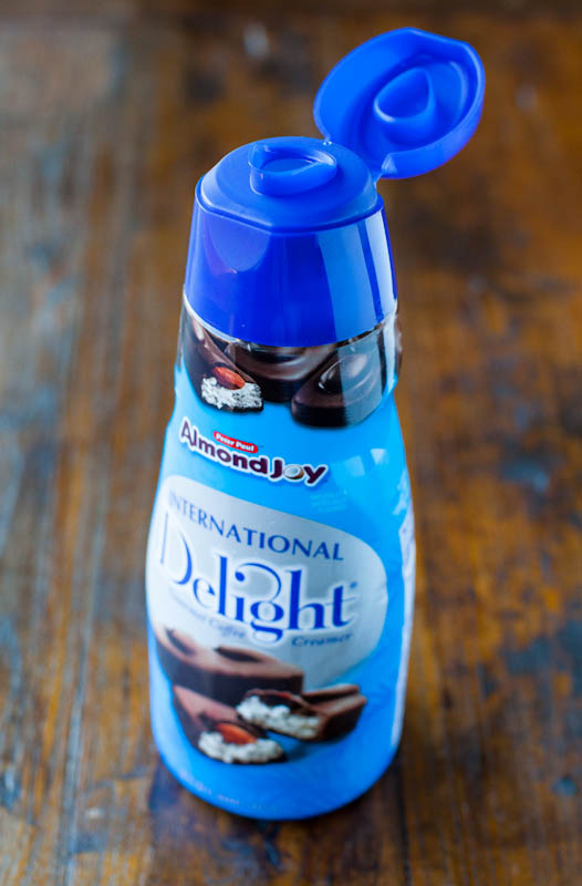 Open Almond Joy Coffee Creamer International Delight