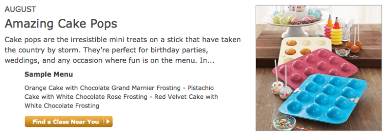 August Amazing Cake Pops Class blurb