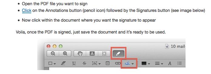 How to sign a pdf instructional screenshot