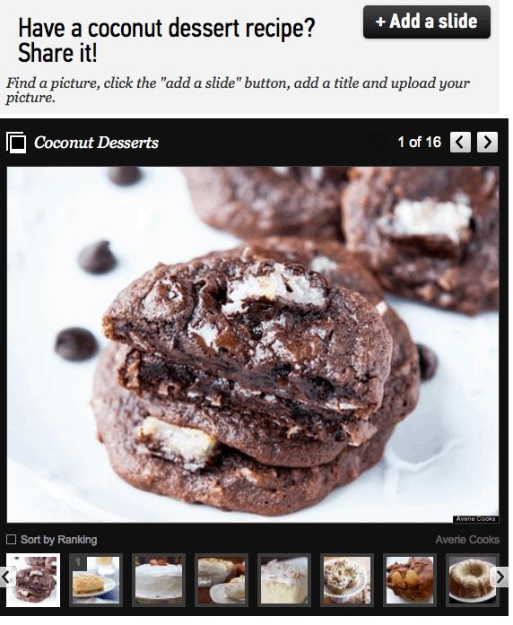 Mounds Bar Chocolate Coconut Cake Mix Cookies on slideshow