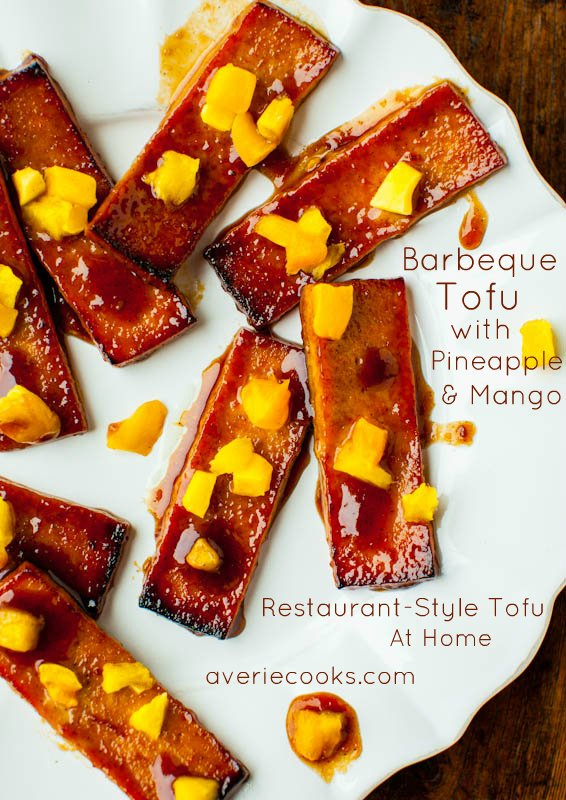 Barbeque Tofu with Pineapple and Mango