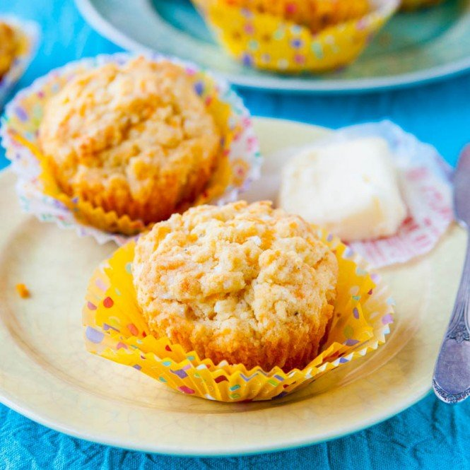 Cheddar Cheese and Olive Oil Savory Muffins