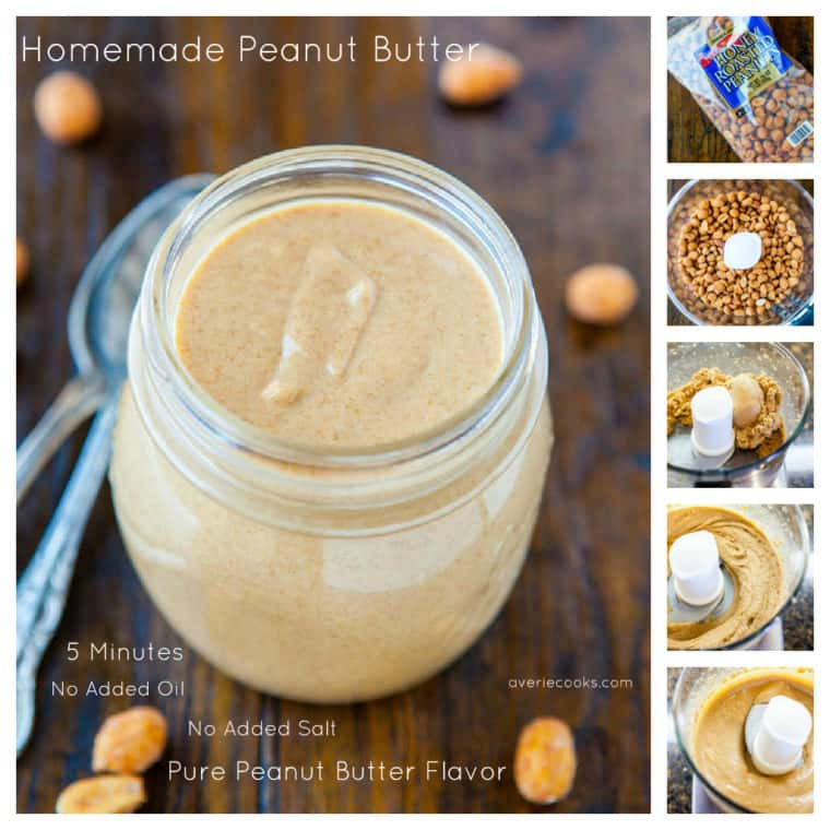 Homemade Peanut Butter with in process shots on how to make