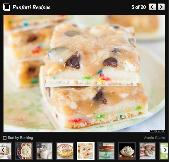 Cookie Butter Funfetti Triple Chip Bars on Huffington Post slideshow