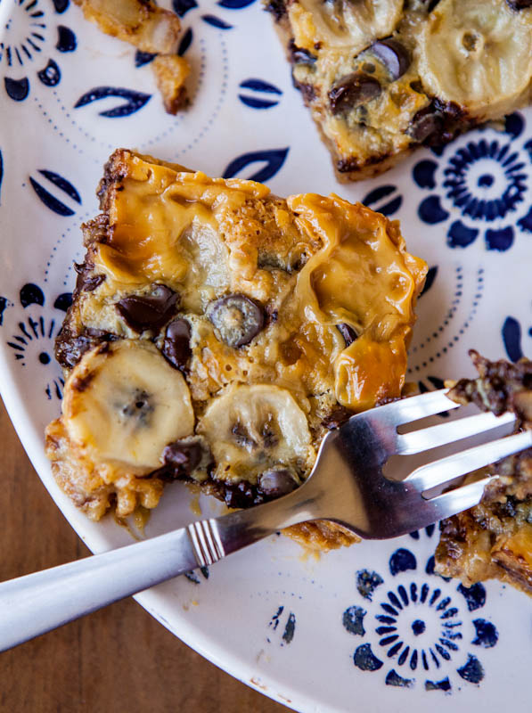 Chocolate Banana and Biscoff Graham Bars