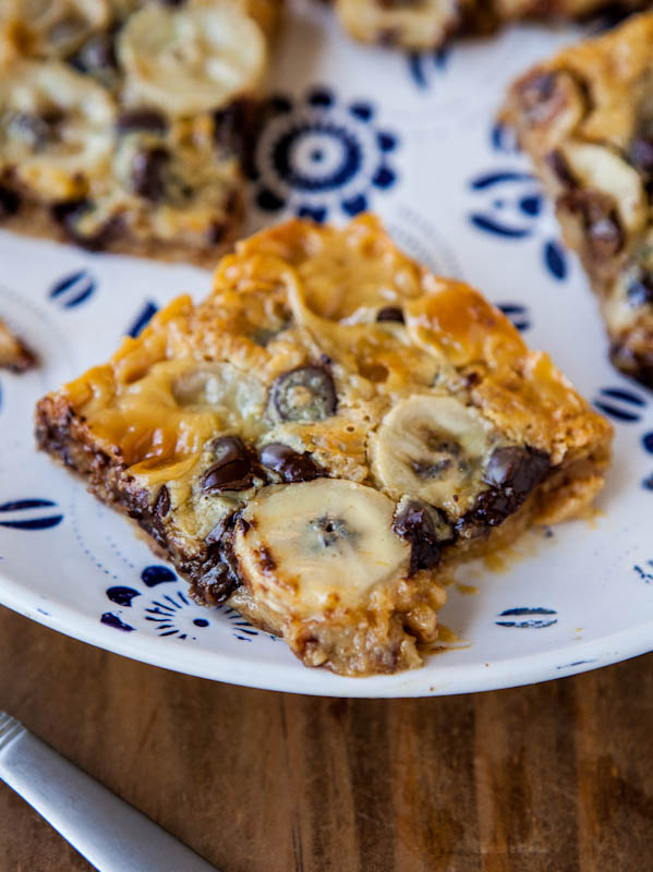Chocolate banana and biscoff graham bars