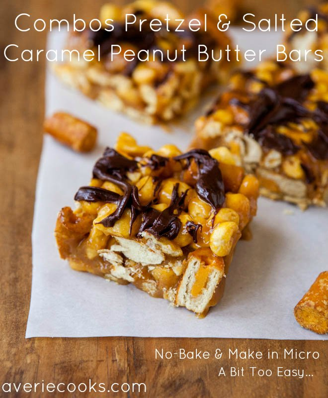 Combos Pretzel and Salted Caramel Peanut Butter Bars
