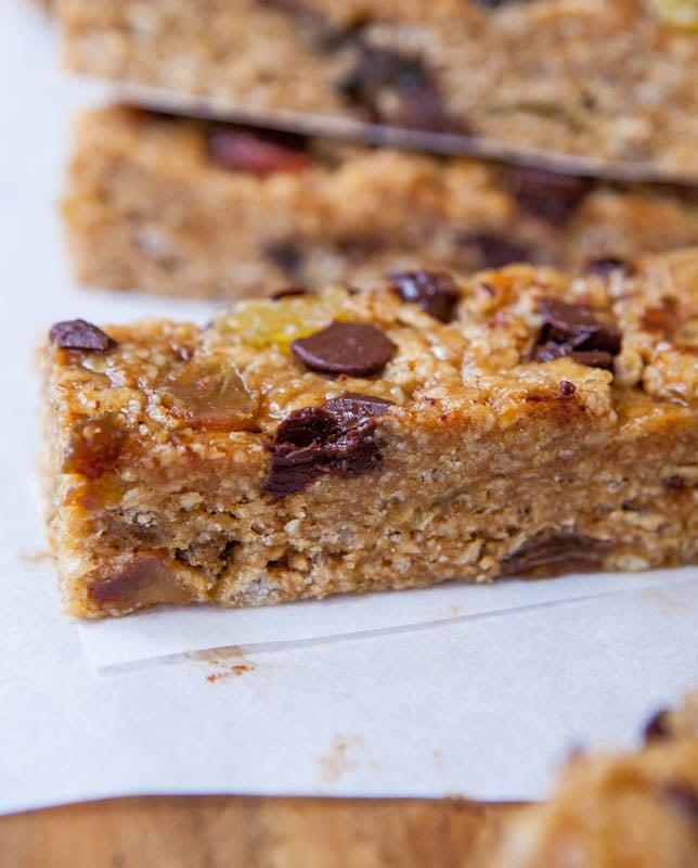 Peanut Butter Chocolate Chip Granola Bars - Averie Cooks