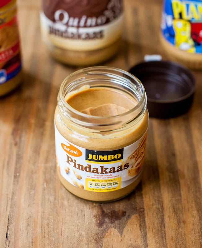 Jar of Jumbo Pindakaas peanut butter