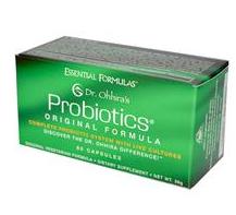 Essential Formulas Dr. Ohhira's Probiotics in green box