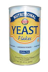 Can of Nutritional yeast flakes