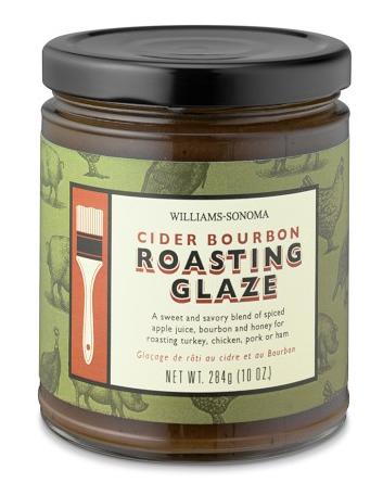 Cider Bourbon Roasting Glaze jar