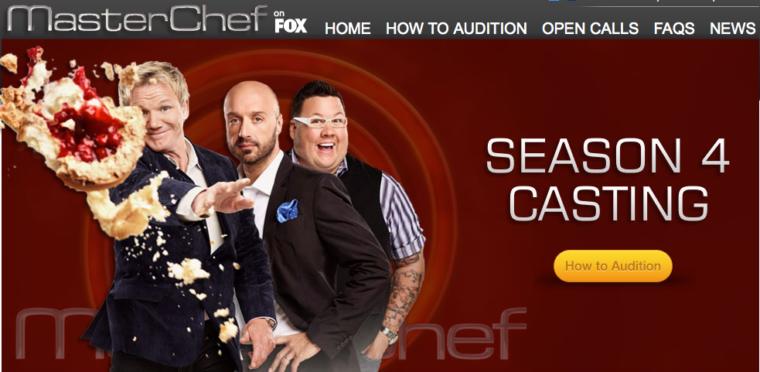 Master Chef Season 4 Casting Call
