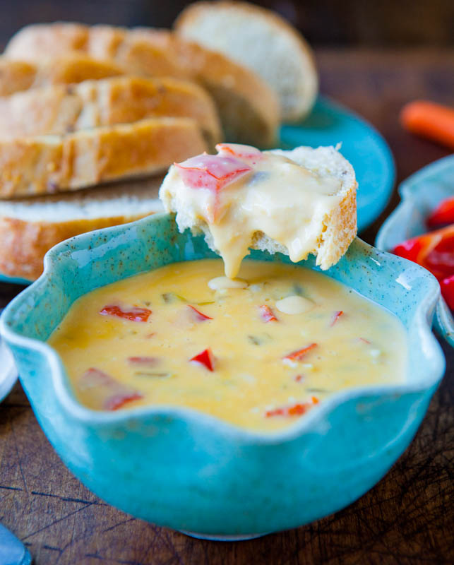 Double Melted Cheese and Red Pepper Dip (gluten-free)
