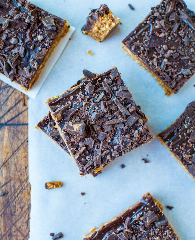 Cinnamon Oatmeal Date Bars with Chocolate Chunks stacked