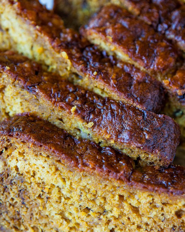 Pumpkin Banana Bread with Brown Butter Frosting