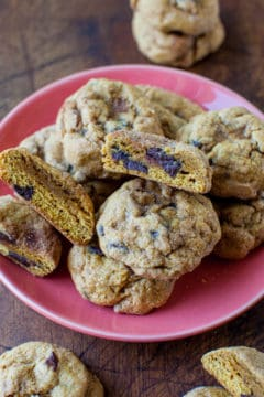 Pumpkin Chocolate Chip Cookies + KitchenAid Stand Mixer + $200 Williams-Sonoma Gift Card Giveaway