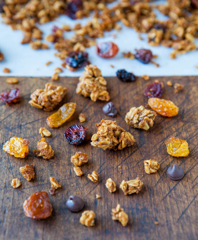 Pumpkin Spice Peanut Butter and Chocolate Chip Granola
