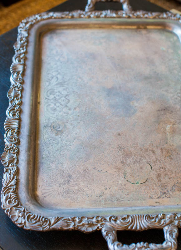 Silver plated copper tray