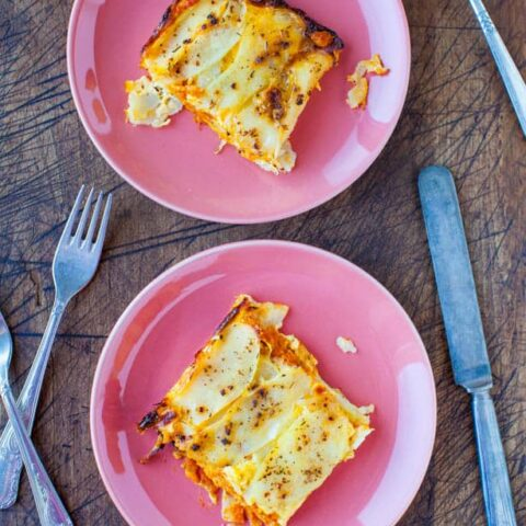 Pumpkin and Cheesy Baked Potato Casserole