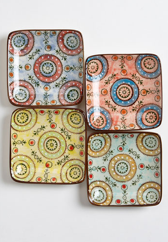 Square Paisley Appetizer Dishes