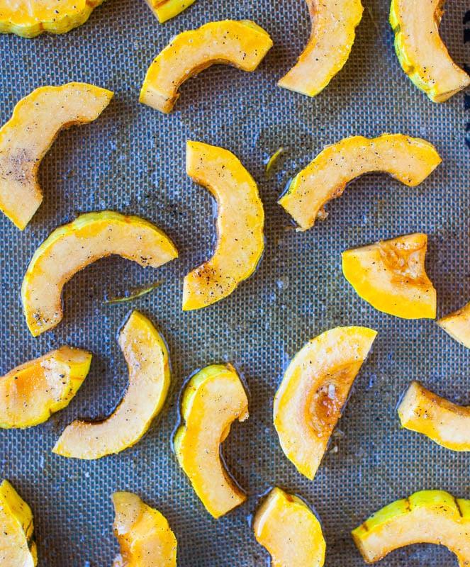 Roasted Cinnamon-Ginger Delicata Squash