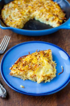 Creamy and Crispy Hash Browns Frittata