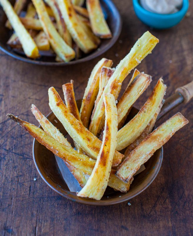 been asking for more parsnip fries. Not French fries; parsnip fries ...