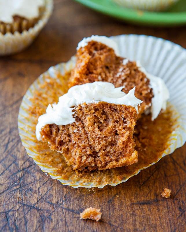 Pumpkin Cupcakes With Buttermilk Icing Recipe — Dishmaps