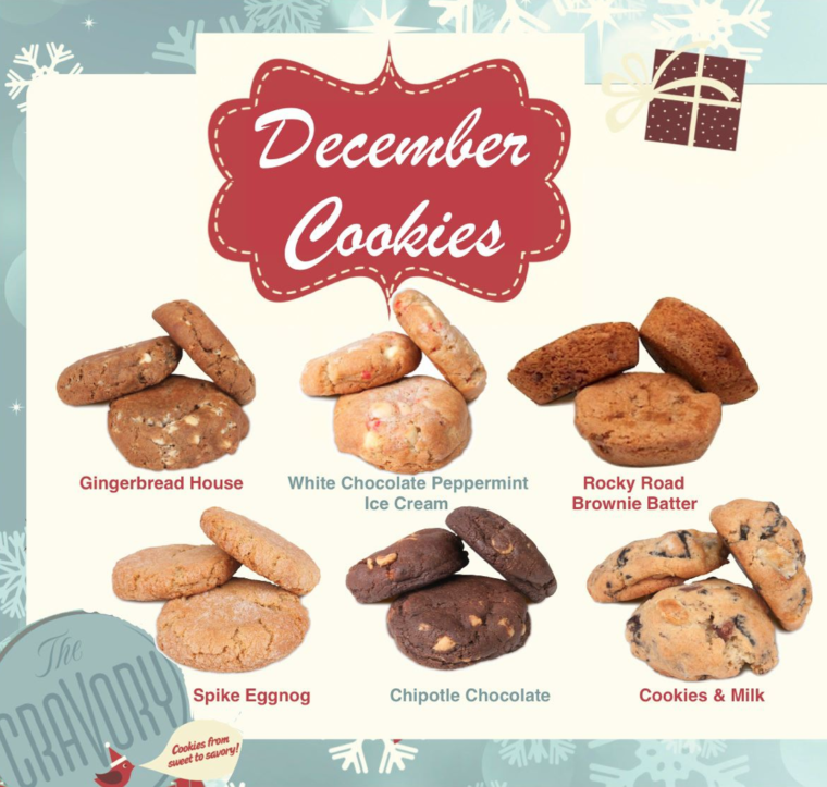 The Cravory's december cookies