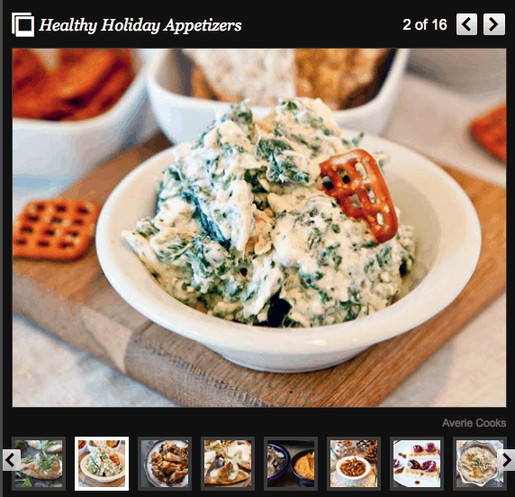 Healthy Holiday Appetizers story on the Huffington Post