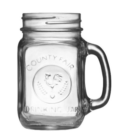 Libbey Country Fair 16-Ounce Drinking Jar with Handle