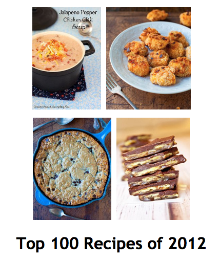 Top 100 Recipes for 2012 pic collage