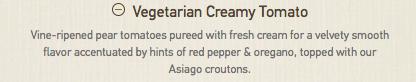 Panera's tomato soup