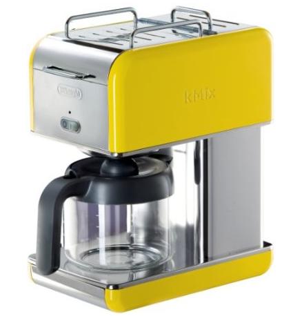 DeLonghi Kmix 10-Cup Drip Coffee Maker, Yellow