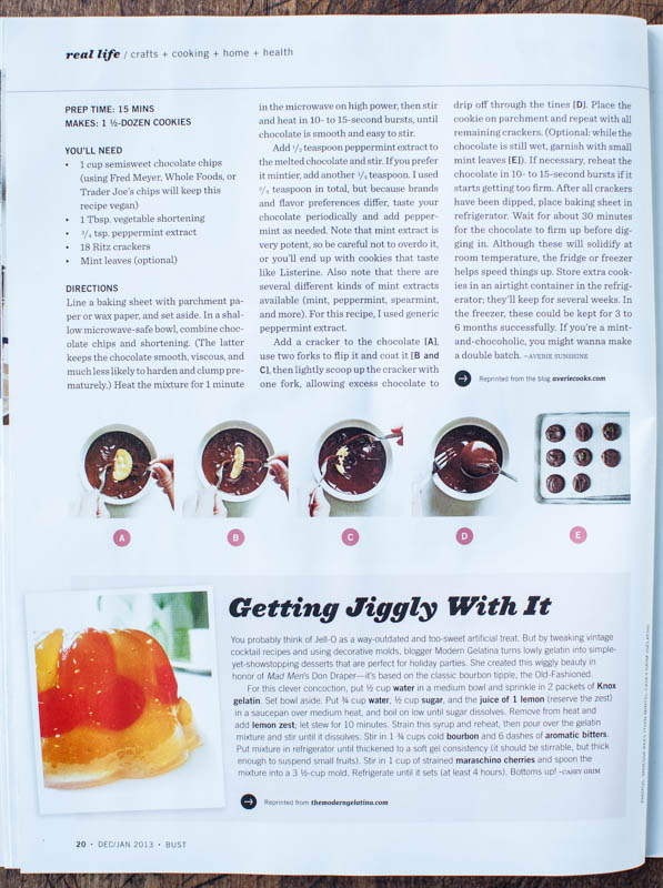 Bust magazine thin mints