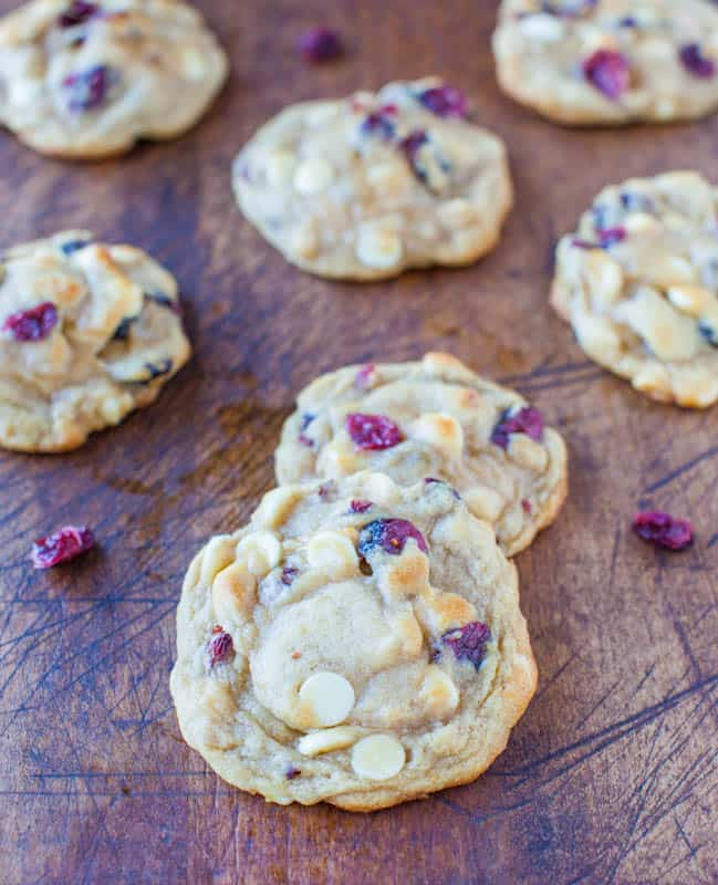 Cranberry and White Chocolate Chip Cookies - Averie Cooks