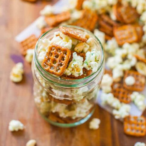 Parmesan Ranch Snack Mix (no-bake)