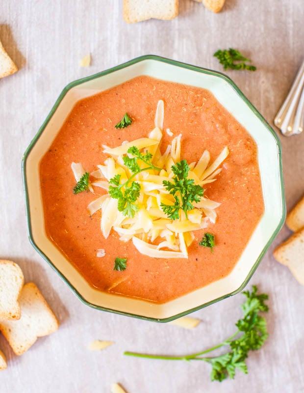 Creamy Tomato Soup (vegan, GF)