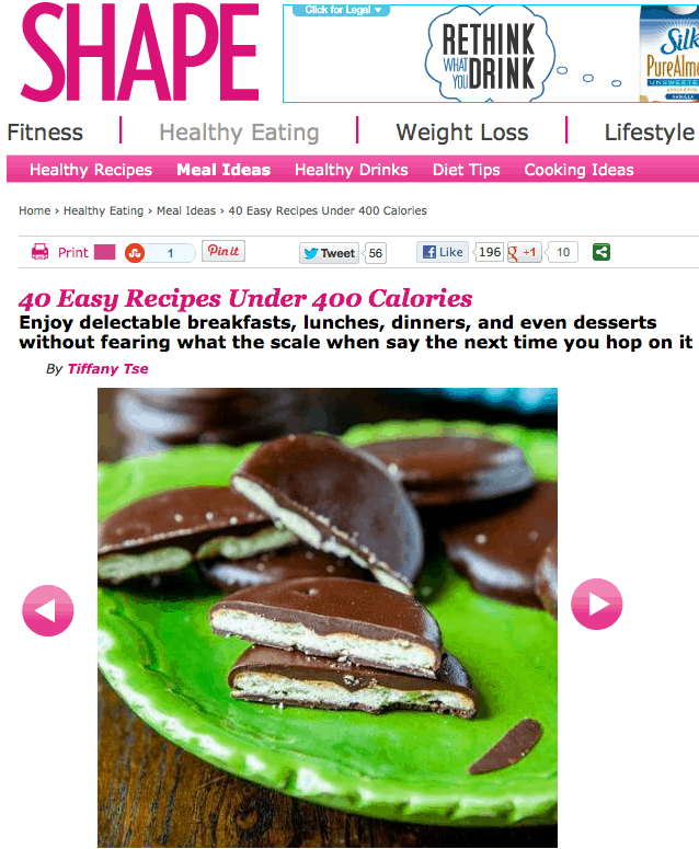 Shape Magazine featuring for featuring my Thin Mints