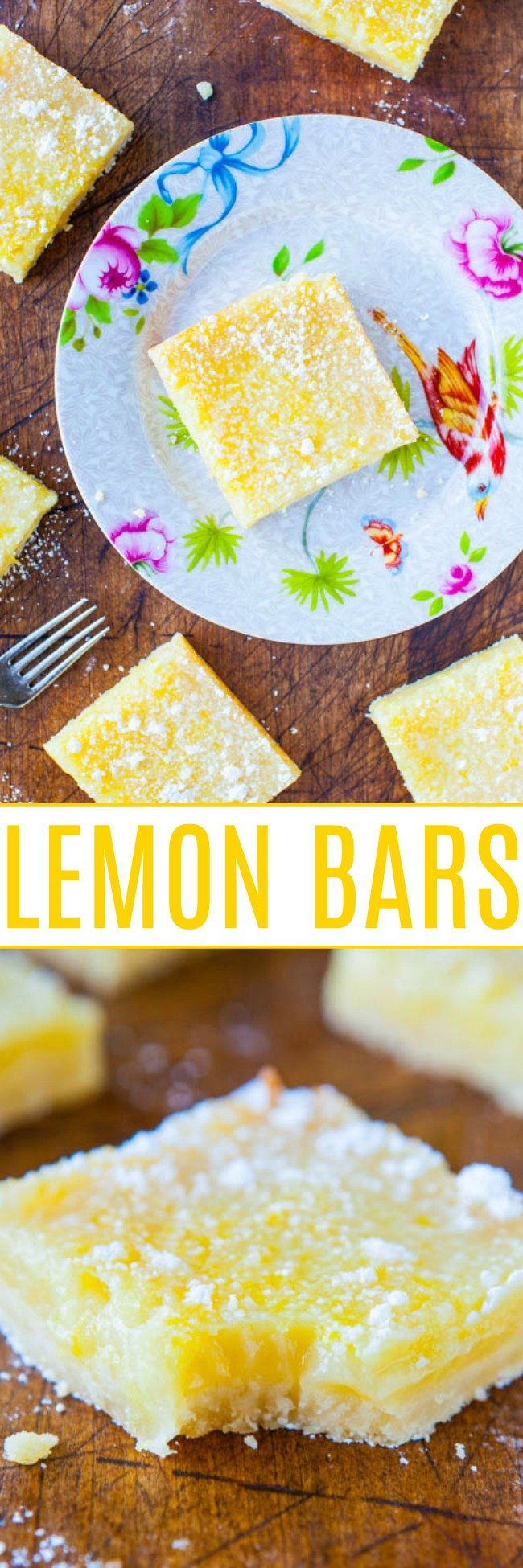 The BEST Lemon Bars — Classic lemon bars that pack a punch of big time lemon flavor, without being too tart or too sweet!