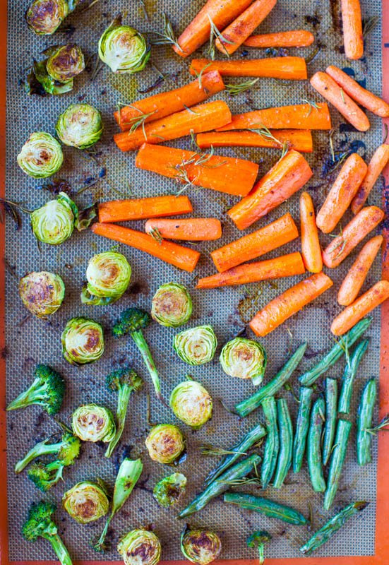 Lemon Rosemary Coconut Oil Roasted Vegetables averiecooks.com